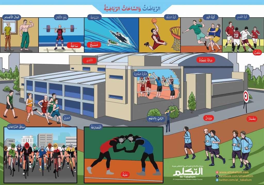 الرياضات والساحات الرياضية